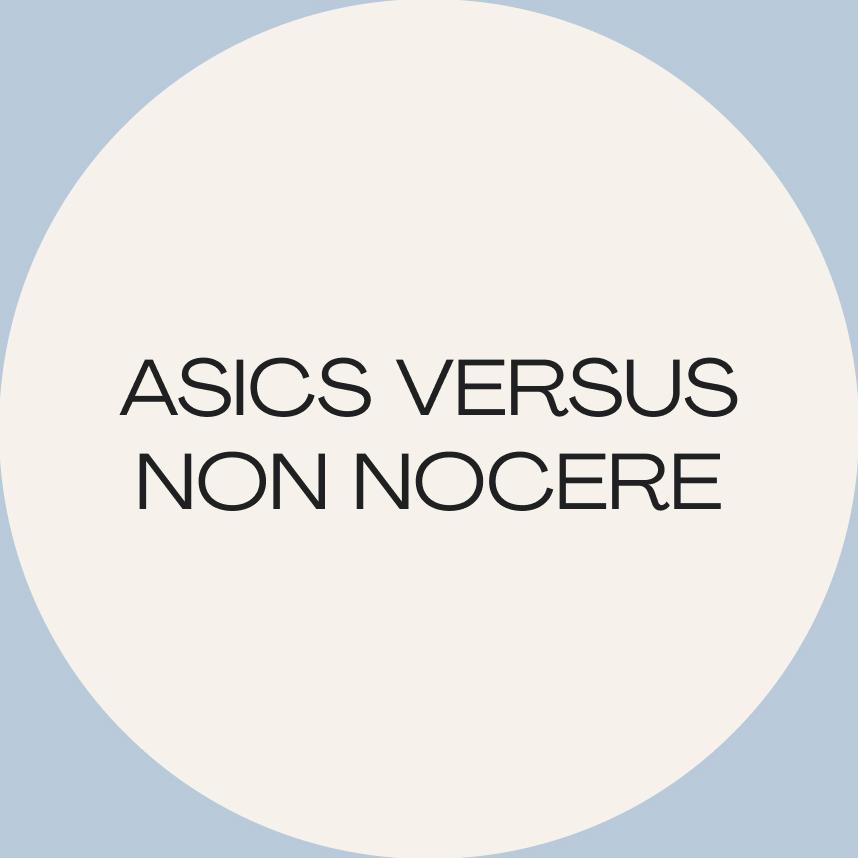 Artículo para Corncuentros: Asics versus non nocere